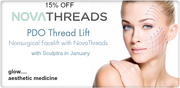 15% off all Stem Cell Treatme15% off Sculptra and PDO Threads & 20% off if Purchased Together!